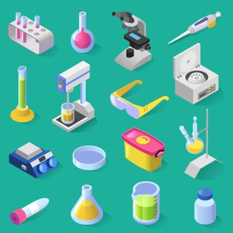 Laboratory equipment isometric design